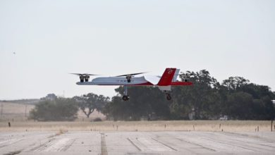 Photo of Elroy Air's first full-scale autonomous cargo test flight a success