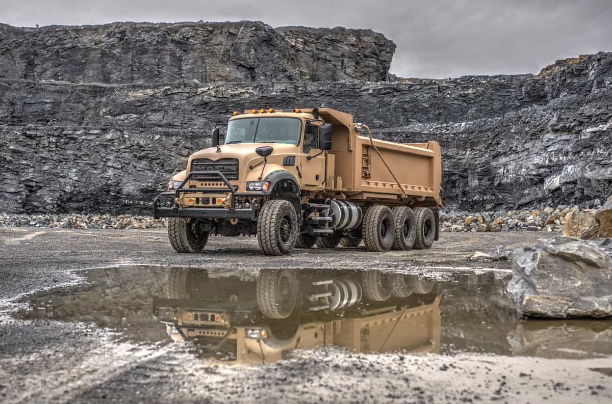 Mack Defense submits armored heavy dump truck for U S  Army