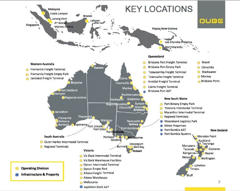 Map Of Southeast Asia Australia And New Zealand.Qube Earns Us 1 15 Billion In Revenues But Foresees Subdued Markets