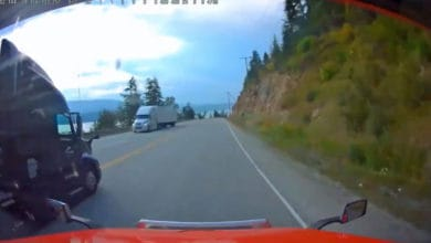 Photo of Trucker's dash-cam video gets driver fired