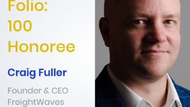 Photo of FreightWaves CEO and Founder named to Folio: 100
