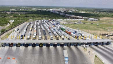 Photo of Trans-border truck freight along the U.S.-Mexico border was down 1 percent in June