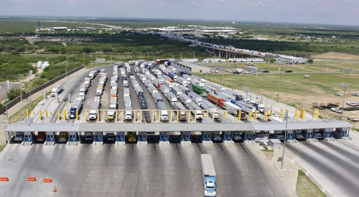 Trans-border truck freight along the U S -Mexico border was