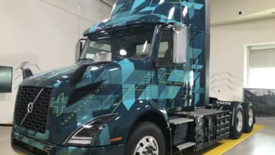 Photo of Volvo shows Class 8 electric truck for California partnership