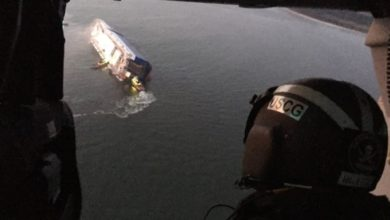 Photo of Ro-ro cargo vessel capsizes off Georgia, search for crew continues