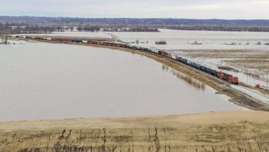 Photo of Spring floods still drowning Midwest farms, grain carloads