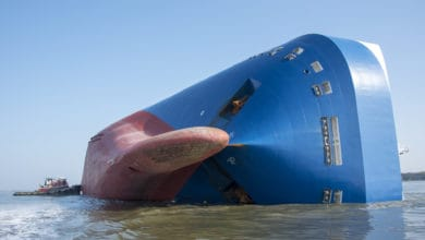Photo of Golden Ray, ship that capsized at Port of Brunswick, to be cut up