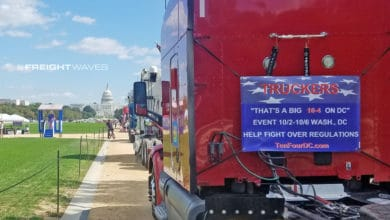 Photo of Independent truckers speak out on National Mall