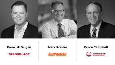 Photo of Transplace's McGuigan, Schneider's Rourke, Forward Air's Campbell highlight the art of adaptation at FreightWaves LIVE Chicago