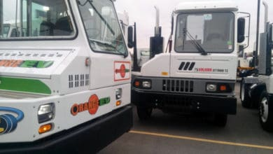 Photo of DHE electrifies yard trucks in Ontario facility