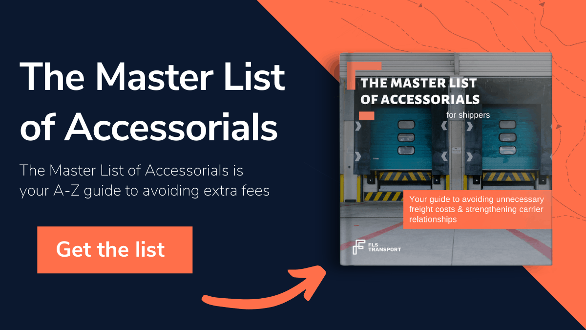 The Master List of Accessorials White Paper by FLS Transport