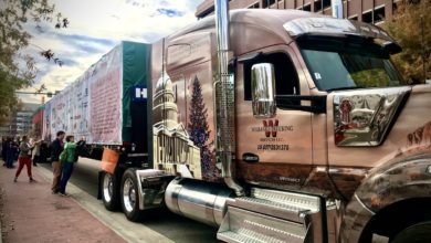 Photo of Freight All Kinds: US Capitol Christmas Tree graces Chattanooga, Tennessee