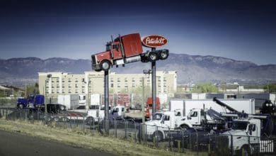 Peterbilt Truck Hoisted