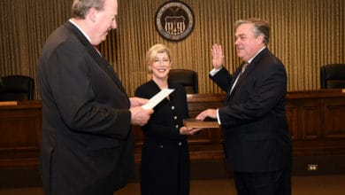 Photo of Bentzel sworn in at Federal Maritime Commission