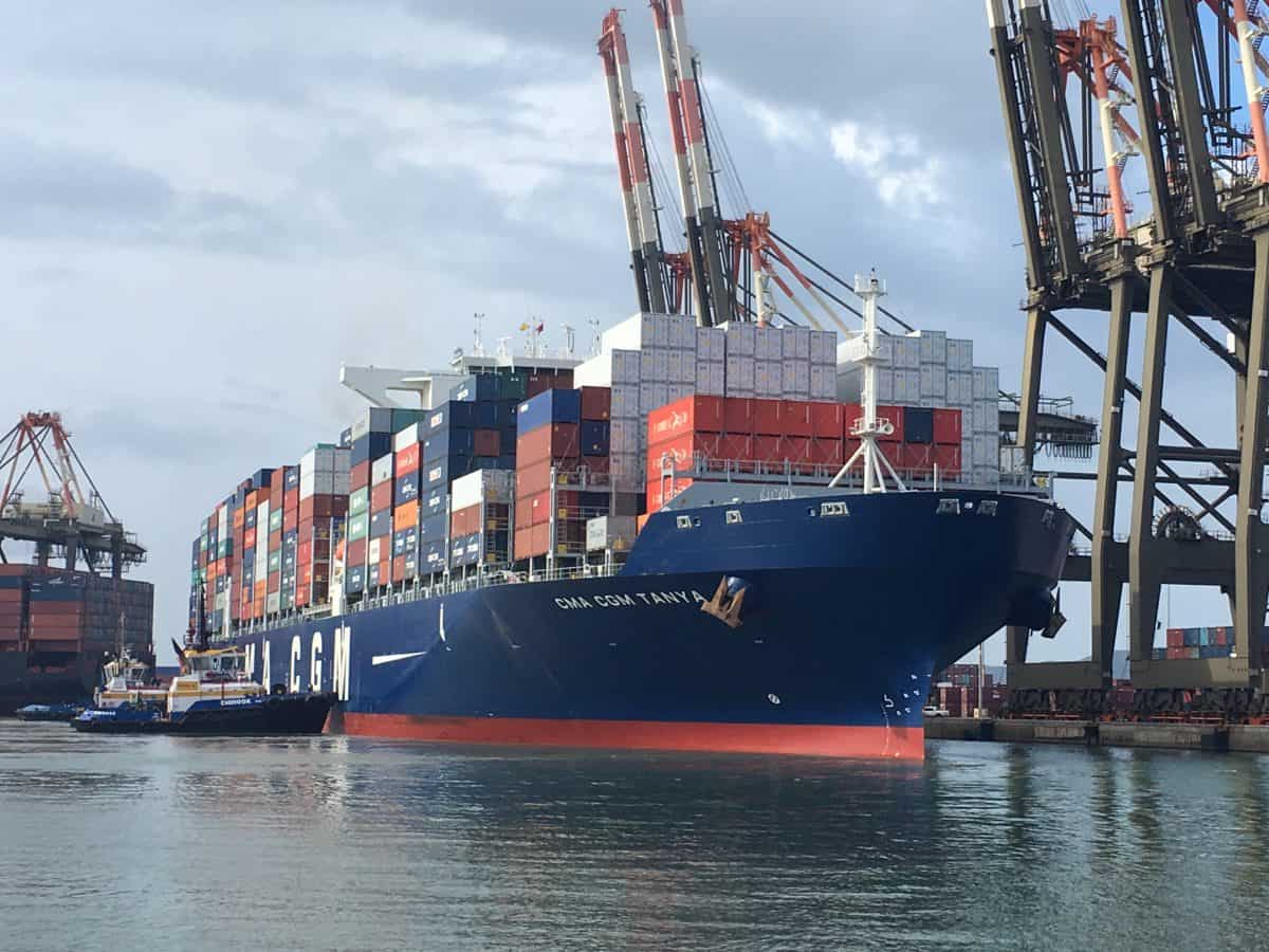 CMA CGM Ship in Kingston Jamaica