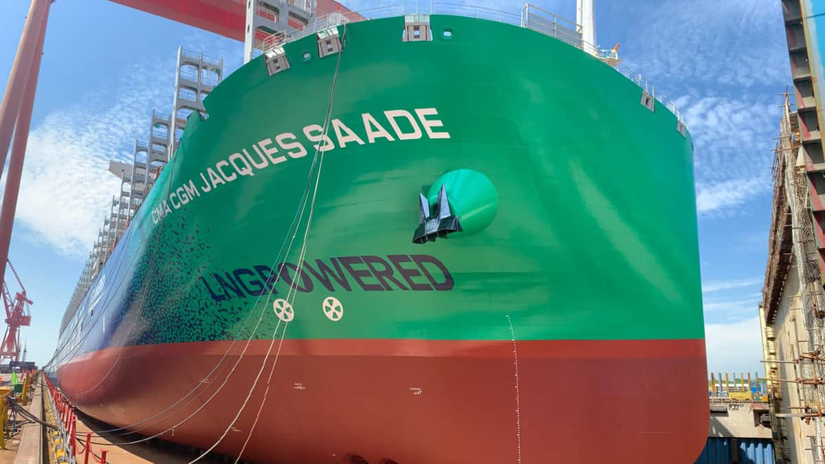 Pictured: the LNG-powered container ship Jacques Saade