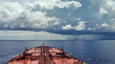 oil tanker underway