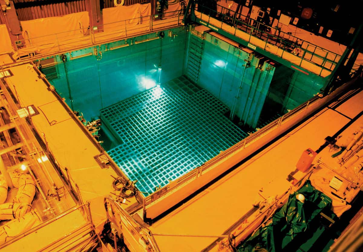 Pictured: the San Onofre Nuclear Generating Station spent fuel pool in 2014; Photo US Nuclear Regulatory Commission