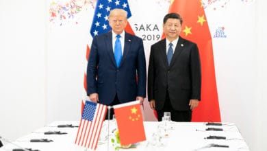 Trump shakes hand with Xi