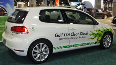 A 2010 VW Golf TDI Clean Diesel at the Detroit Auto Show.