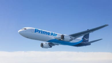 Amazon Prime jet in air