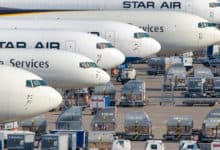 cargo airplanes on the ramp