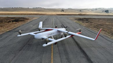 cargo drone on the tarmac