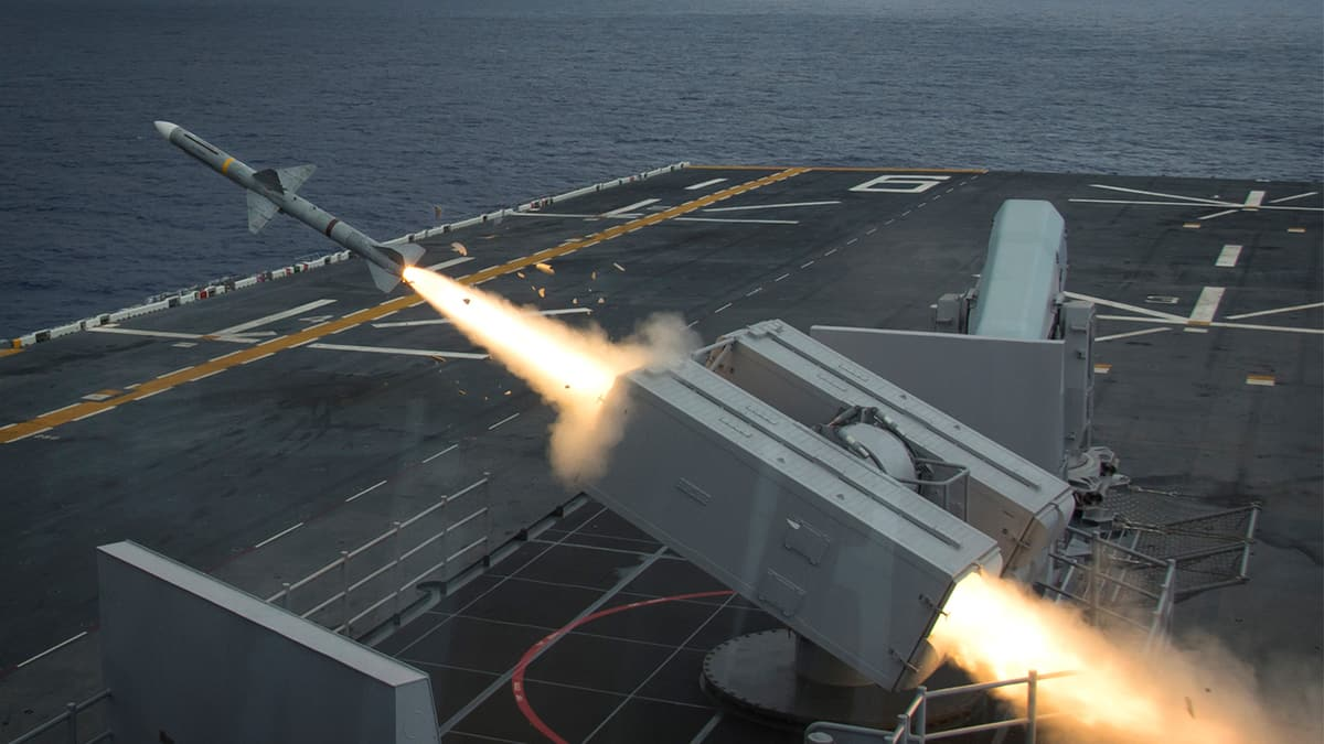 missile launching from warship