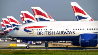 British Airways aircraft on the ramp