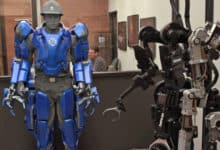 Wearable robot power suit looks like a superhero