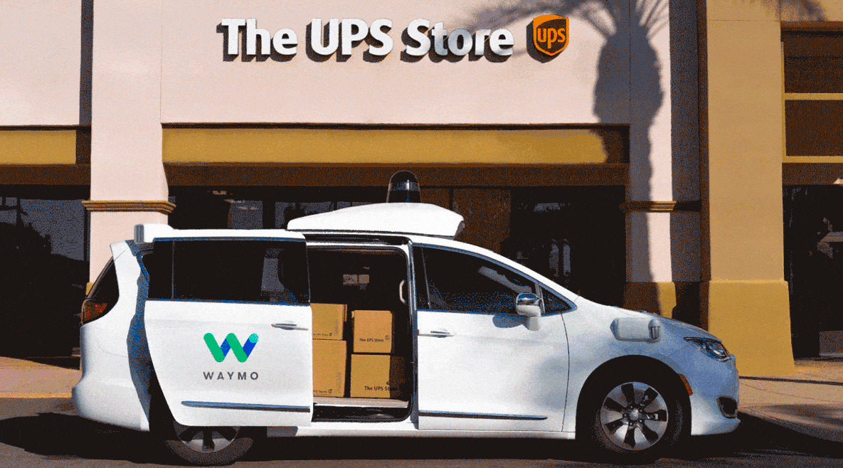 UPS partners with self-driving startup Waymo to deliver parcels (Photo: Waymo)