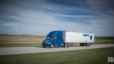 Landstar tractor-trailer on highway