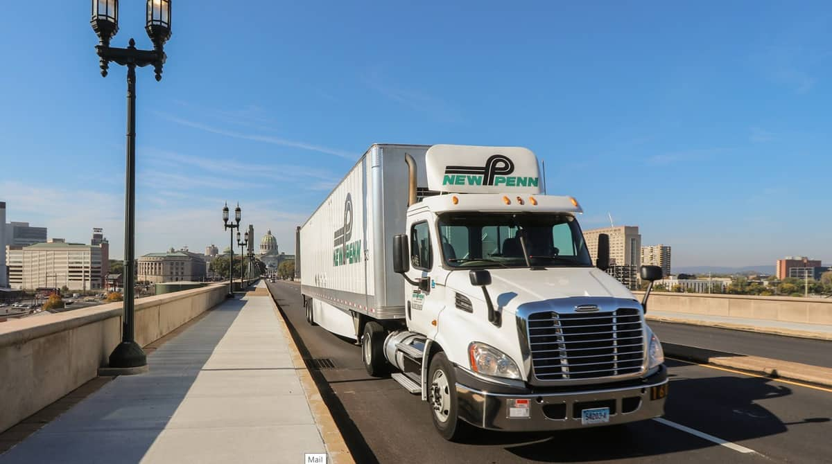 New Penn truck on bridge