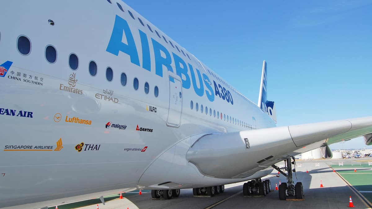fuselage of Airbus A380