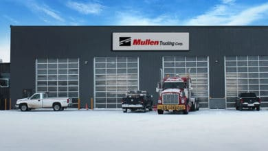 One of Mullen Group's trucking companies in Canada