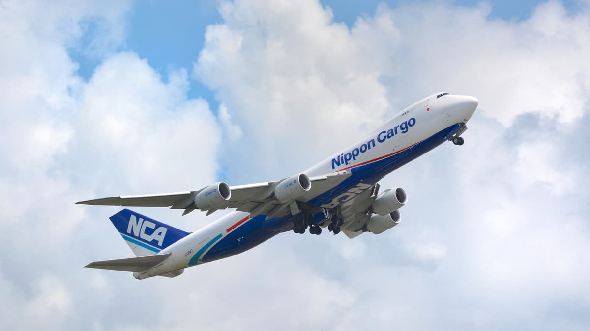 NCA 747 freighter taking off