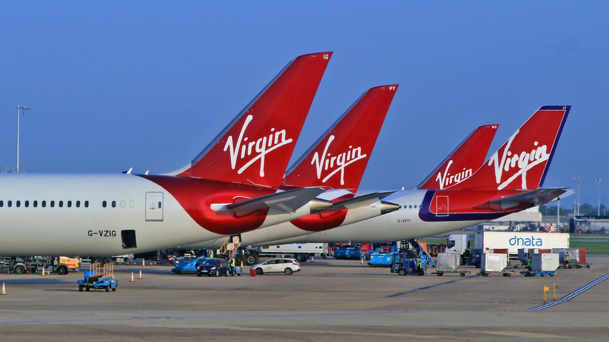 Red aircraft tails for Virgin Atlantic