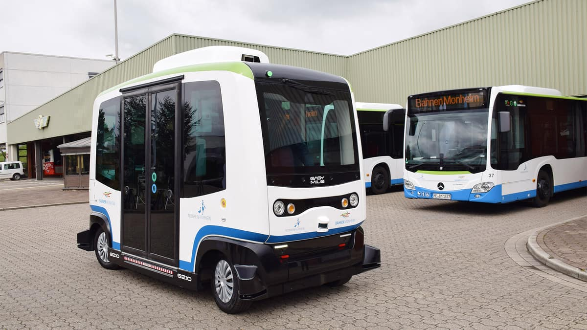 Federally funded autonomous electric shuttles show up in Ohio (Photo: easymile)
