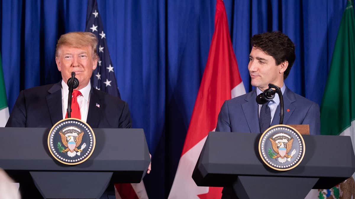 U.S. President Donald Trump with Canadian Prime Minister Justin Trudeau