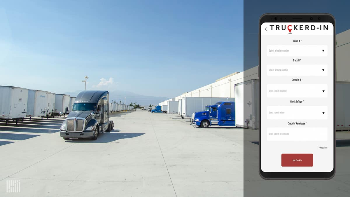 Truckerd-In mobile app