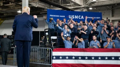 Photo of Trump praises Texas steel mill project during USMCA signing ceremony