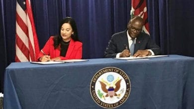 U.S. and Kenyan officials sign an air traffic agreement.