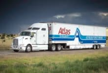 Atlas Van Lines truck on highway