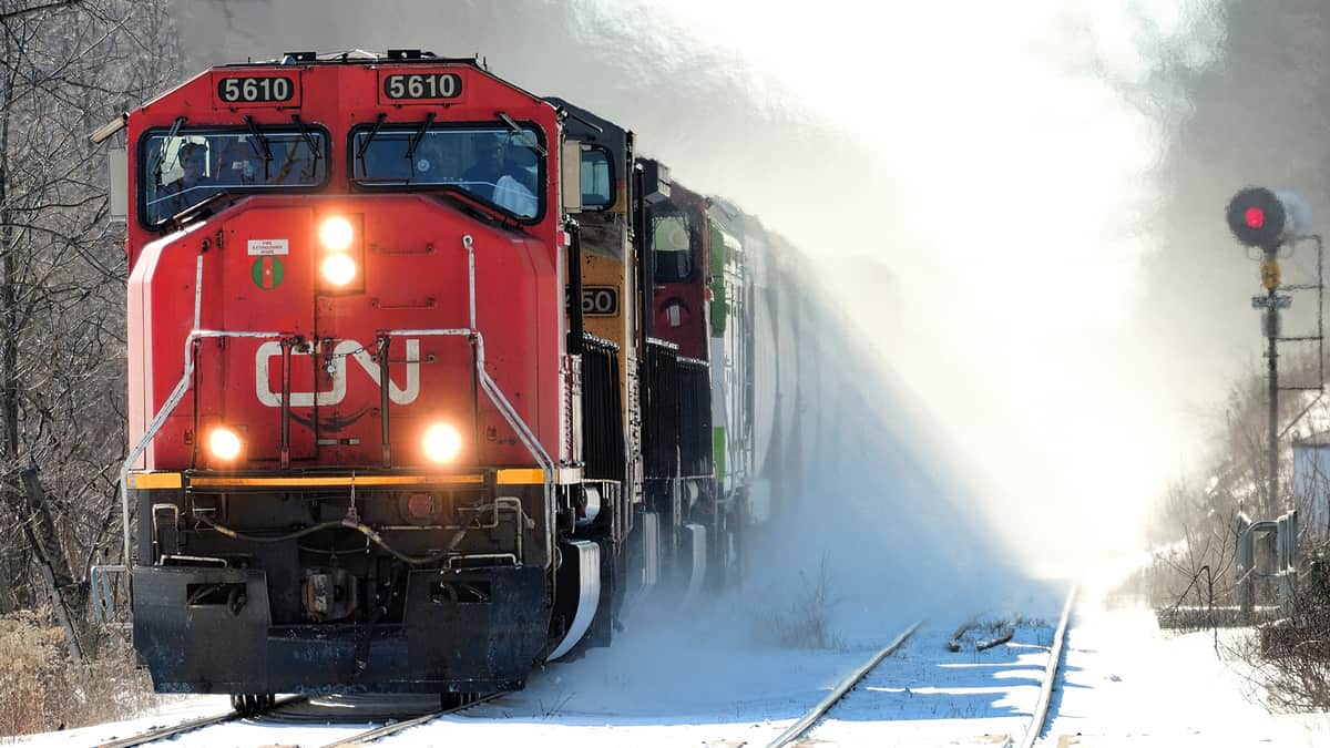 A Canadian National train