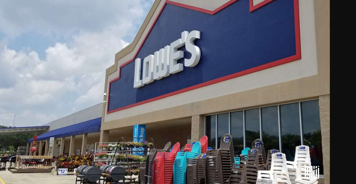 front entrance of Lowe's store