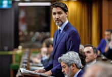 Canadian Prime Minister Justin Trudeau in Canada's House of Commons