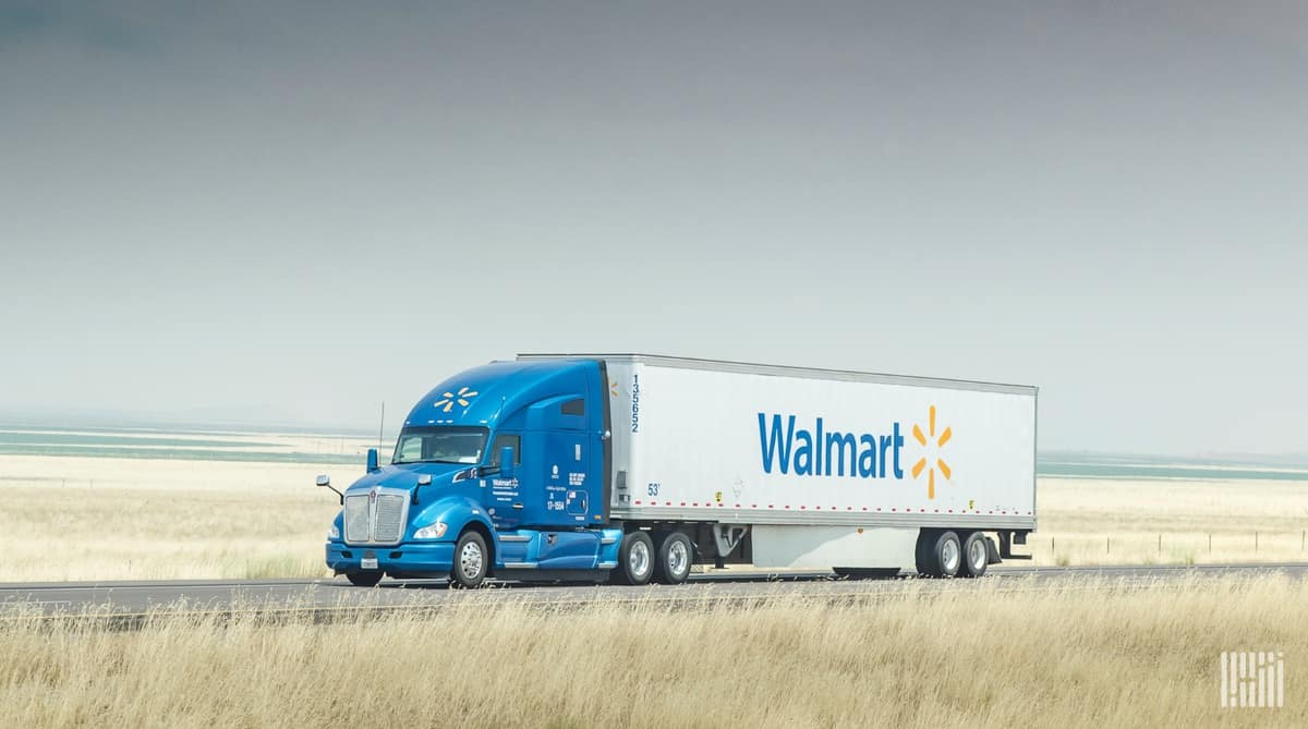 Walmart truck on highway