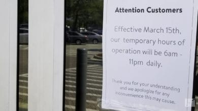 Photo of Grocery stores and other retailers trim hours and limit purchases