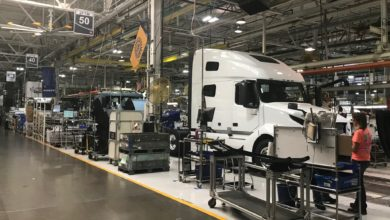 Volvo truck in final assembly