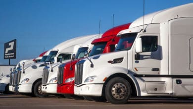 Row of PACCAR used trucks